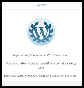 deuxième bloganniversaire