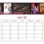 calendrier mois août 2017 rose